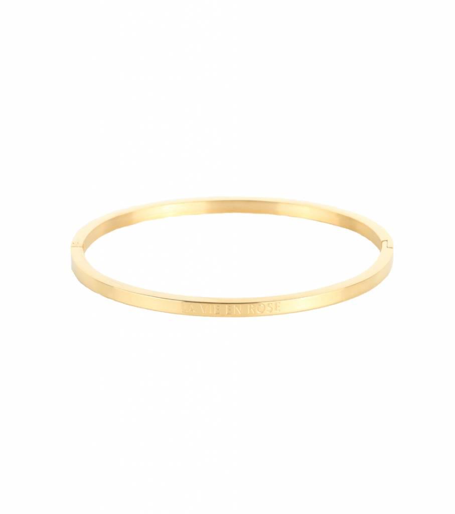LA VIE EN ROSE BANGLE GOLD
