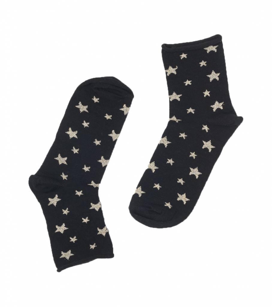 GLITTER STAR SOCKS GOLD