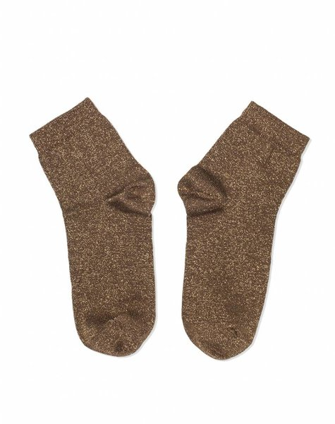 GLITTER SOCKS DARK GOLD