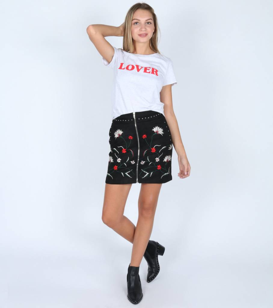 ROCKY CHICK BLACK DAIM SKIRT