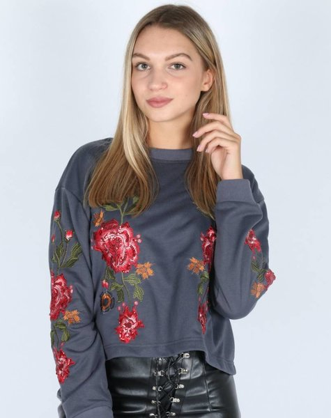 GIVE ME ROSES SWEATER