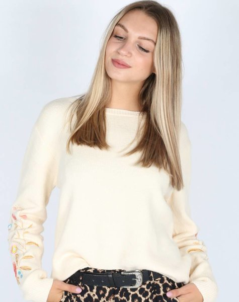 EMBROIDED WHITE SWEATER