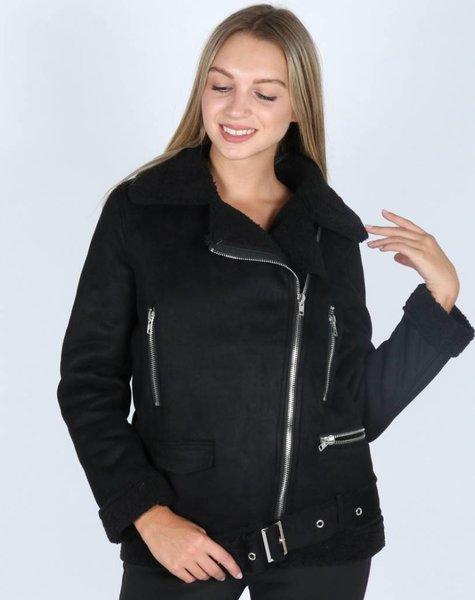 SOFT SHEEP BLACK COAT