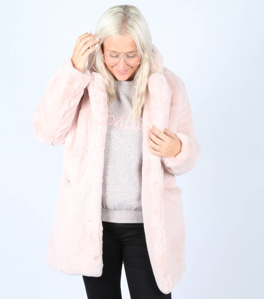 BE MY TEDDY COAT PINK
