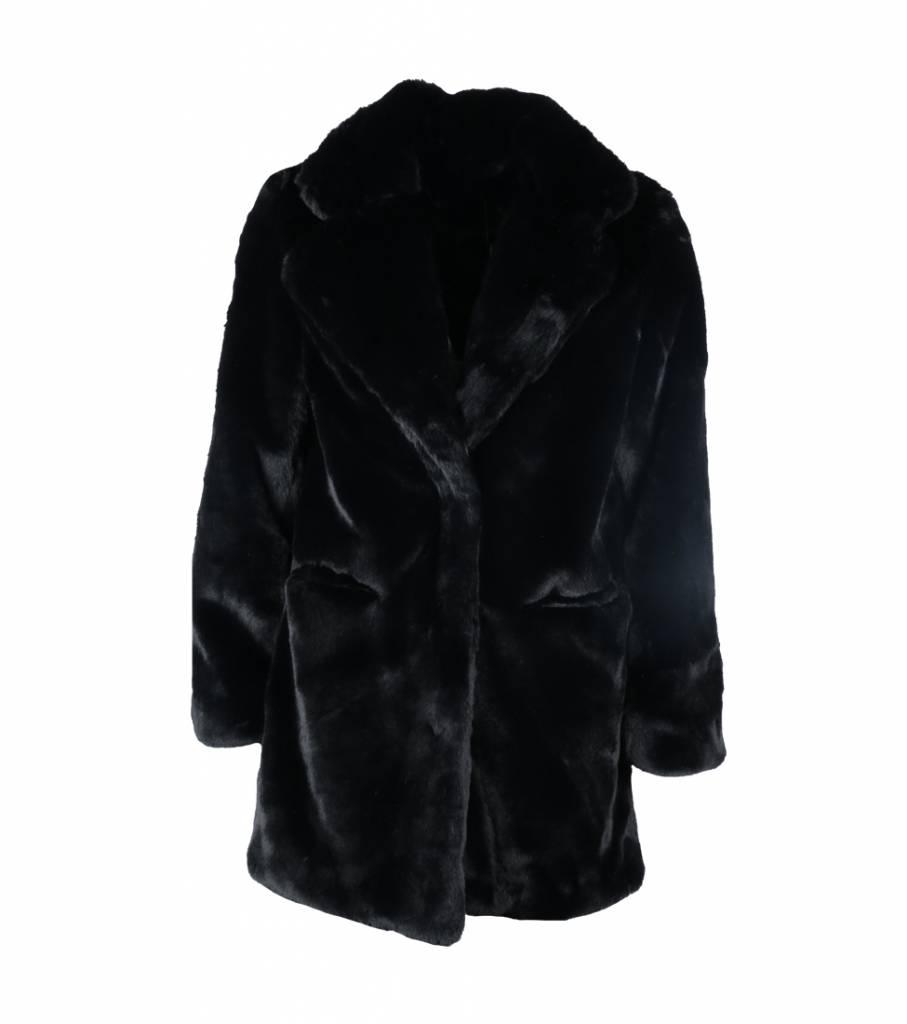 BE MY TEDDY COAT BLACK