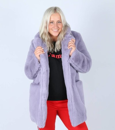 BE MY TEDDY COAT PURPLE