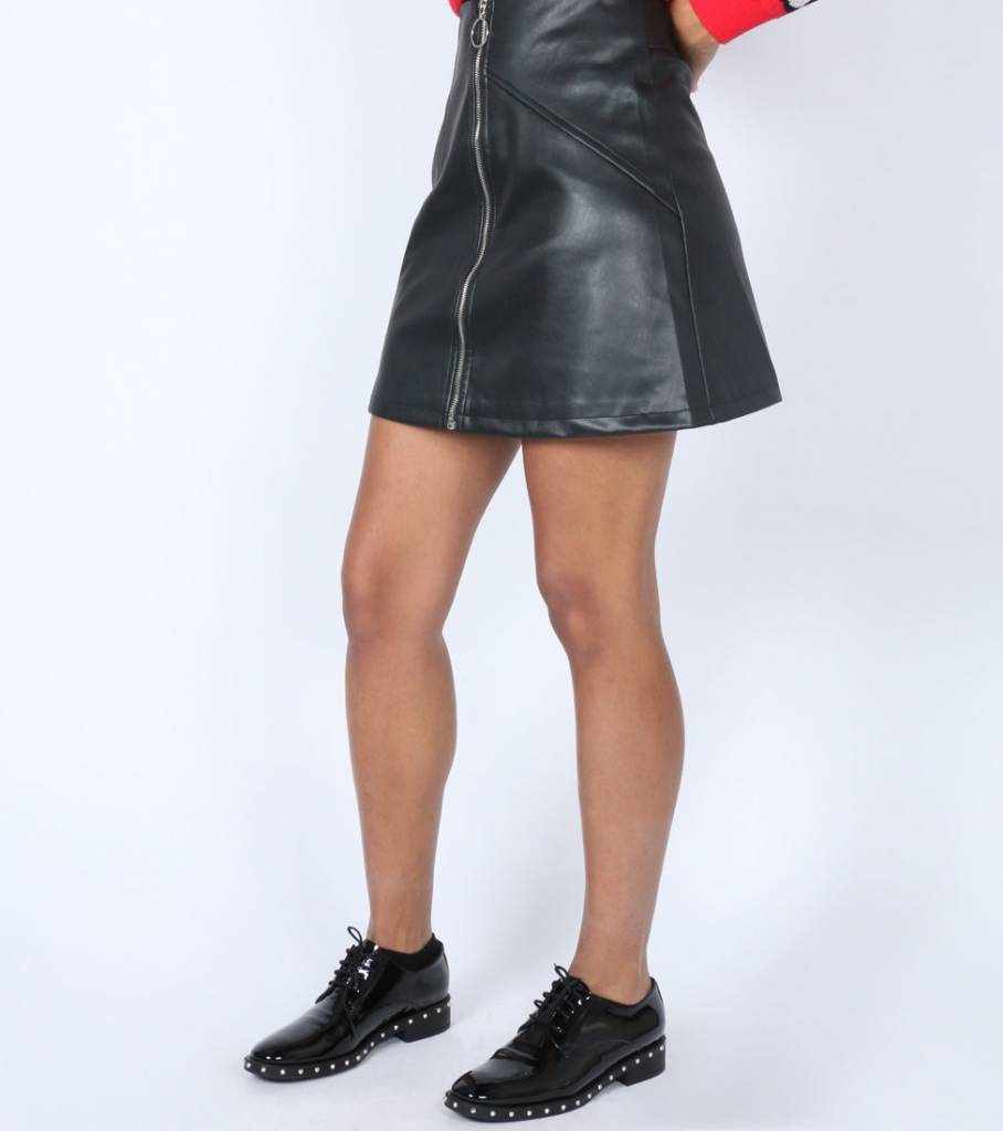 ZIP IT UP LEATHER SKIRT