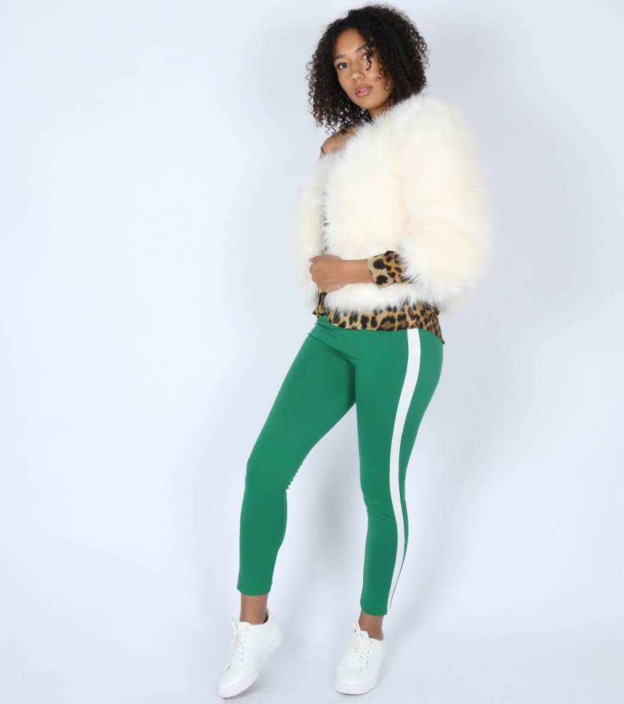 GREEN STRIPED PANTS