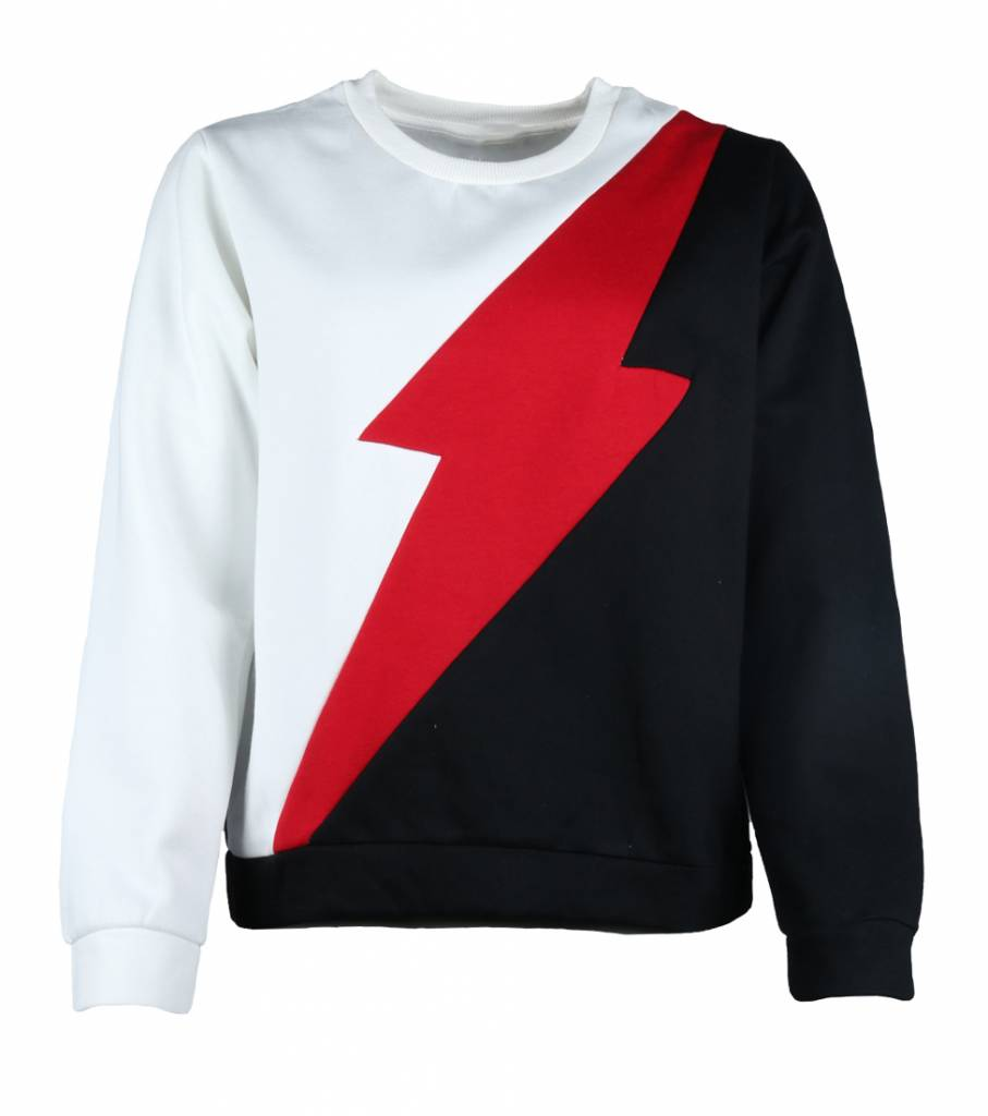 RED LIGHTNING SWEATER