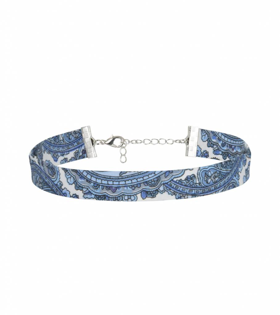 BANDANA LIGHT BLUE CHOKER