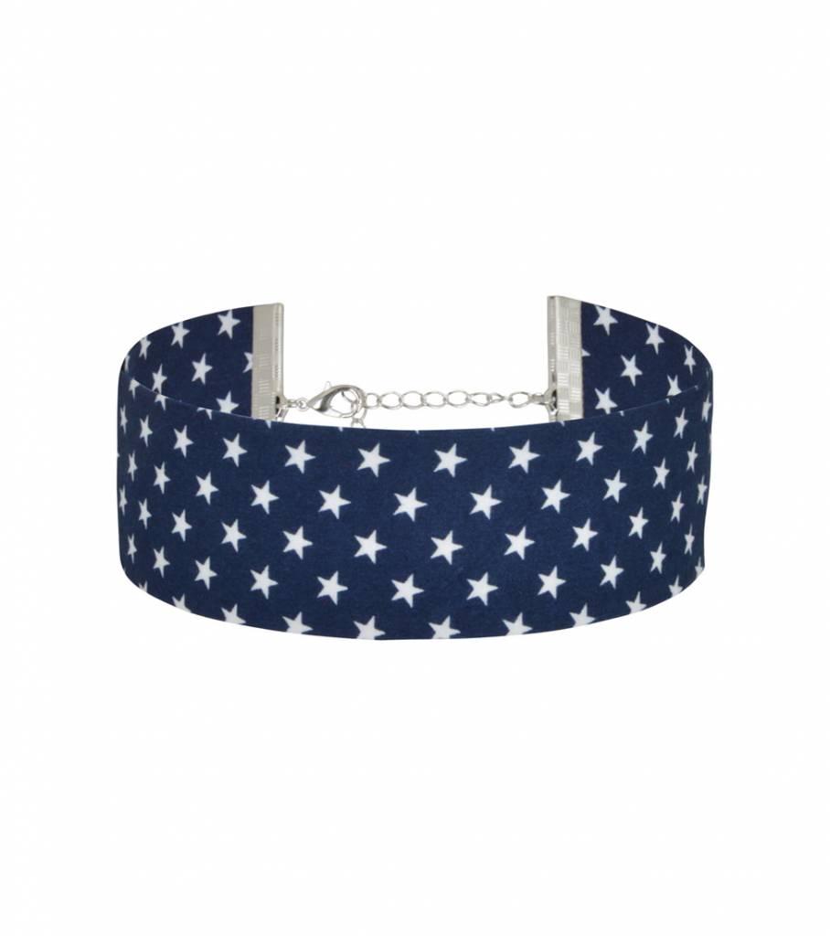 BOLD BLUE STARRY CHOKER