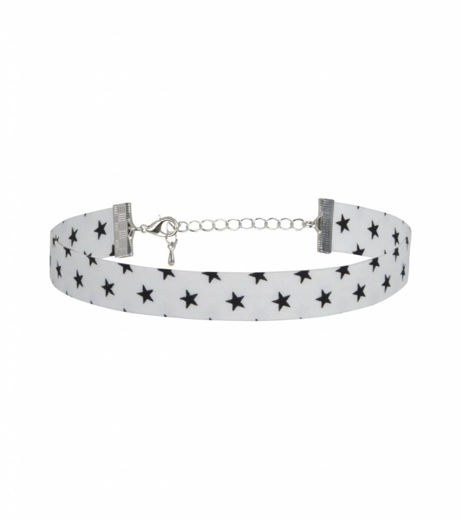 WHITE CHOKER BLACK STARS