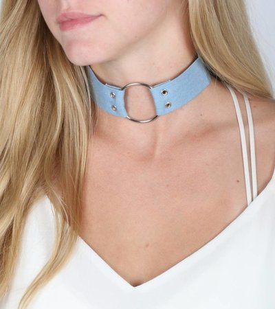 LIGHT JEANS CIRCLE CHOKER