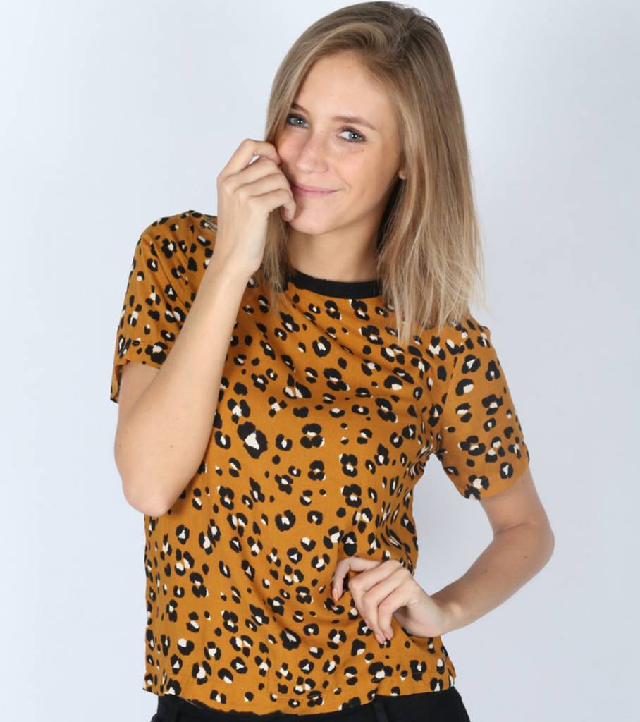ALL THAT LEOPARD YELLOW BLOUSE