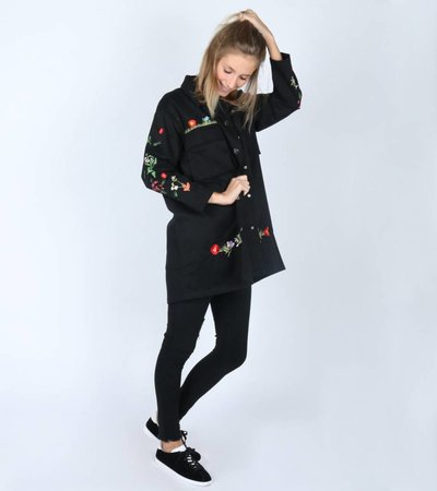 TOUGH FLOWER GIRL OVERSIZED SHIRT