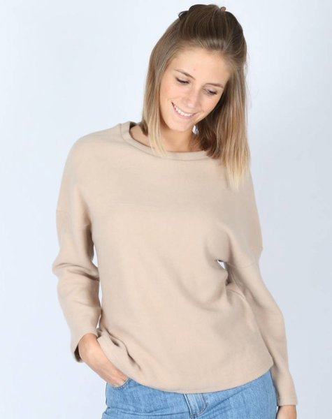 BEIGE BASIC FLEECE