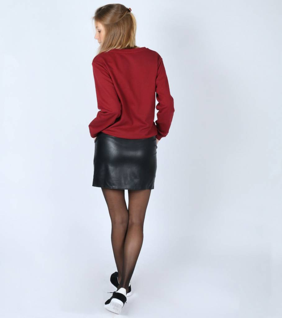 ROSE LEATHER SKIRT