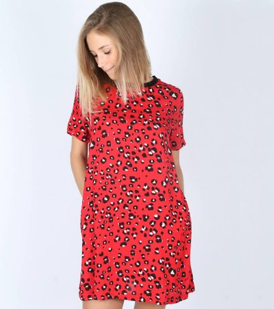 ALL THAT LEOPARD RED DRESS