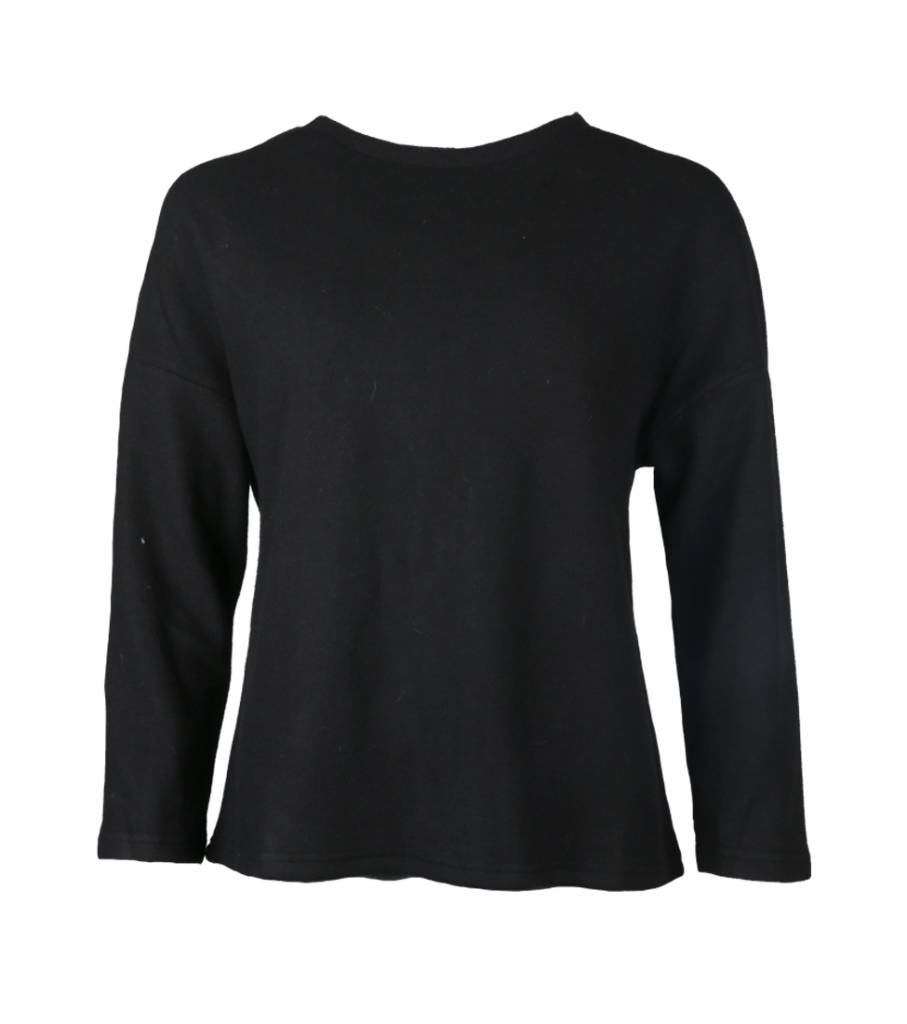 BLACK BASIC FLEECE
