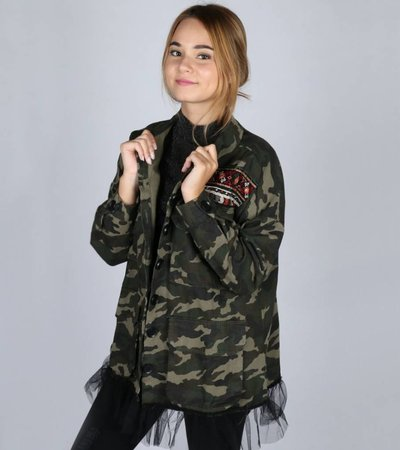 BALLERINA ARMY GIRL JACKET