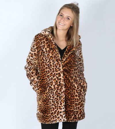 SAFARI FAUX FUR COAT