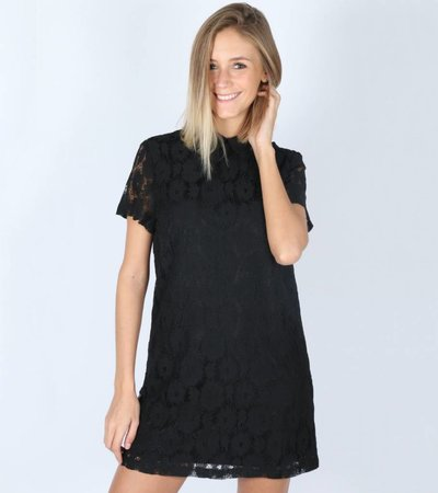 LACE TO LOVE BLACK DRESS