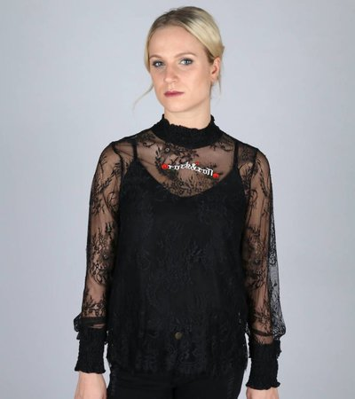 ROCK AND ROLL PARTY SHEER BLOUSE