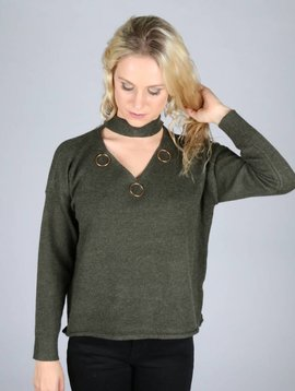 RING PARTY KNIT OLIVE GREEN