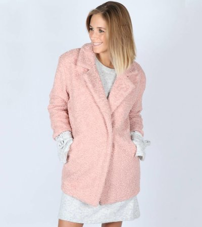 SNUGGLE TEDDY PINK COAT