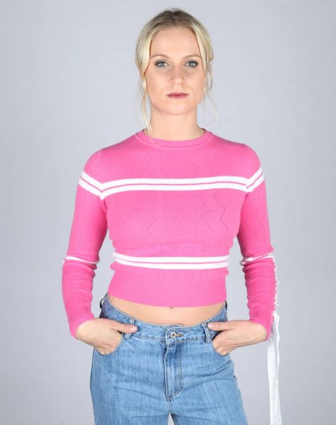 BOW TIE BRIGHT PINK SWEATER