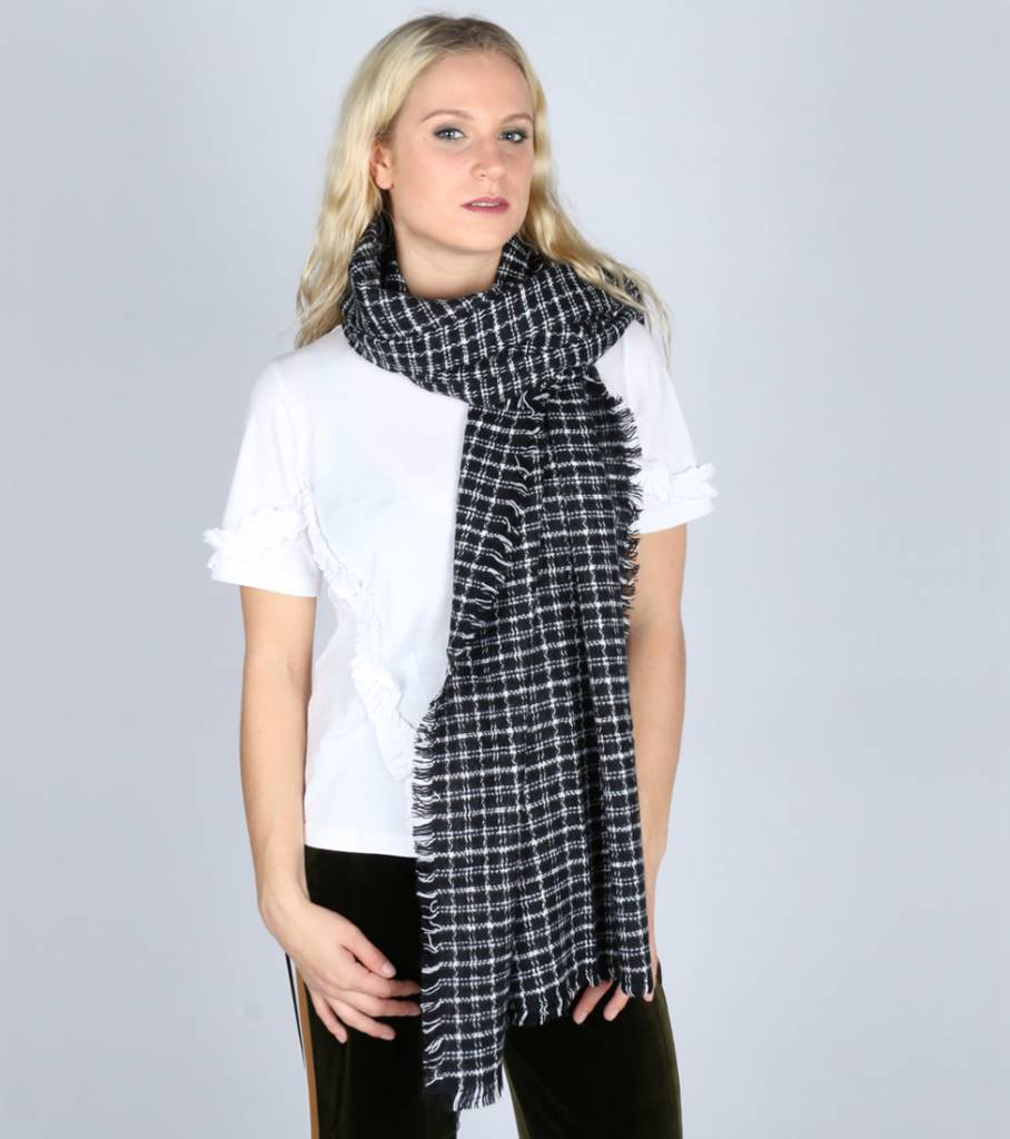 KEEP ME WARM CHECKED SCARF