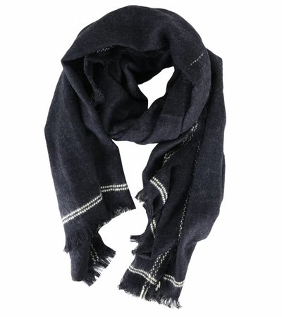 KEEP ME WARM BLACK SCARF