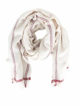 KEEP ME WARM WHITE SCARF