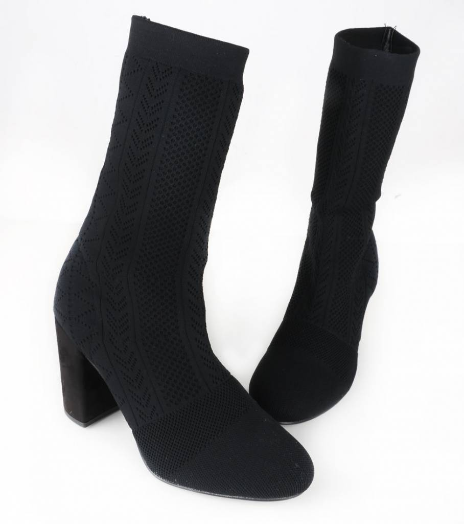 LACY SOCK BOOT BLACK