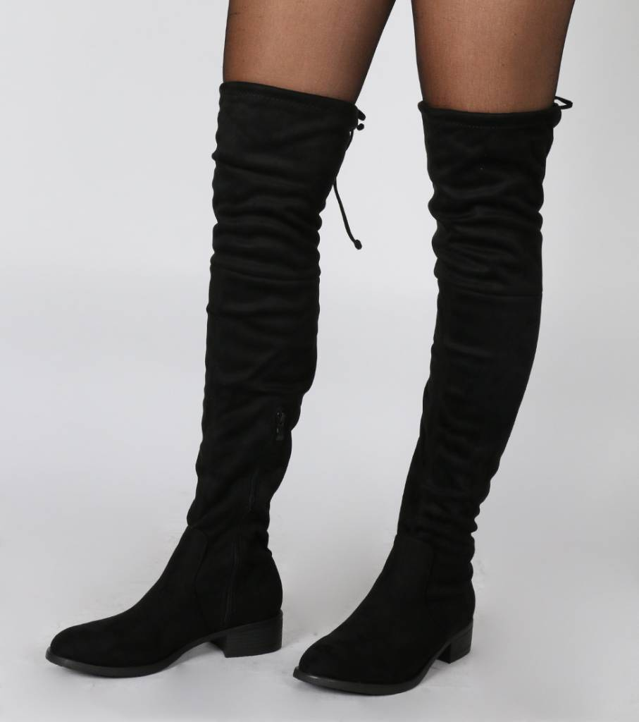 KNEE HIGH BOOTS BLACK