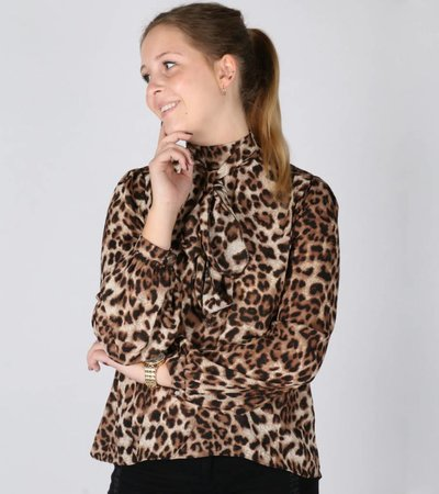 PREPPY LEOPARD BLOUSE