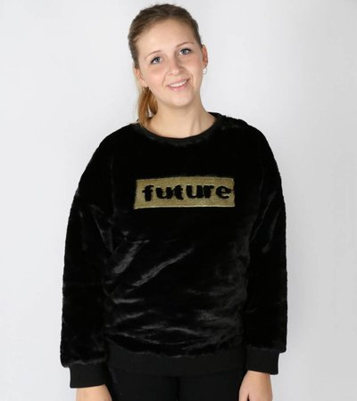 THE FUTURE LOOKS FLUFFY SWEATER
