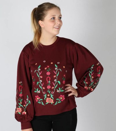 SYMMETRIC FLOWER SWEATER