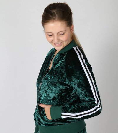 SPORTY VELVET LOVE BOMBER
