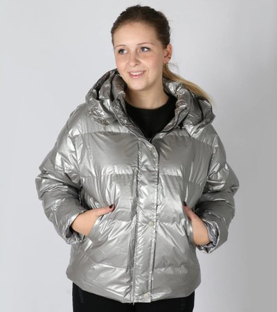 PUF POWER GIRL JACKET SILVER
