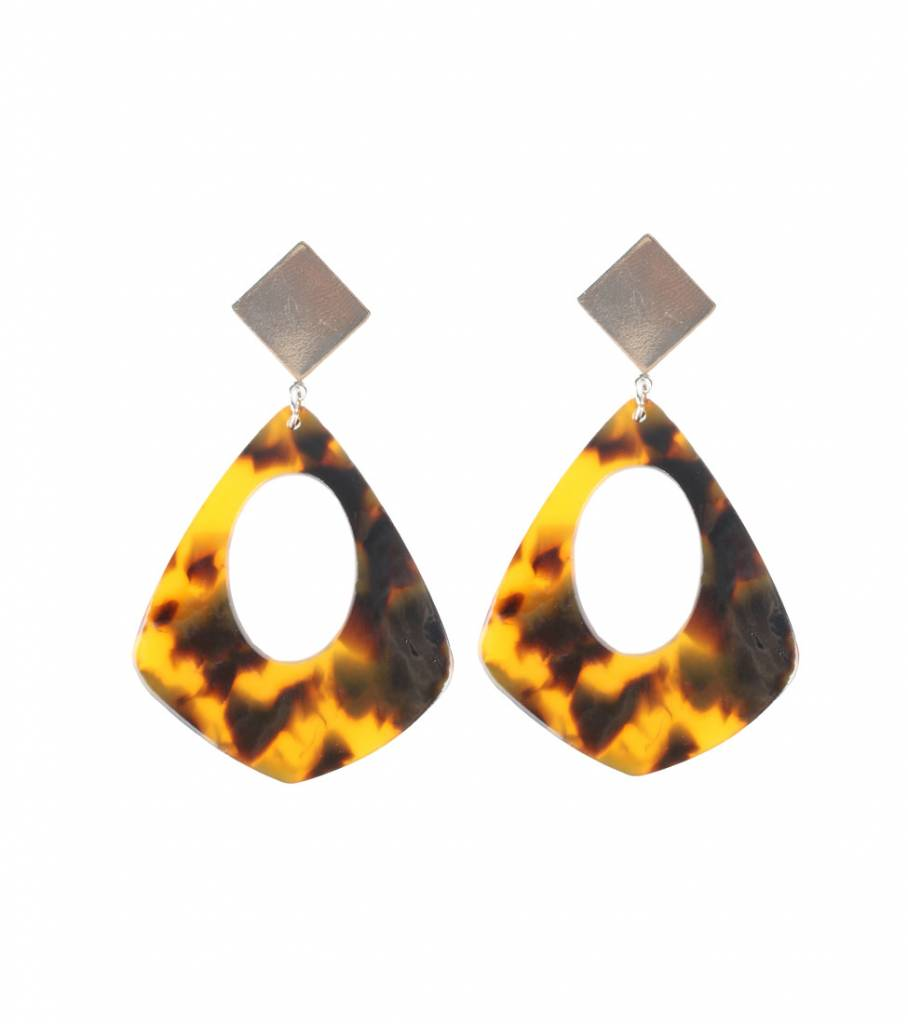 PIRAMID MARBLE EARRINGS