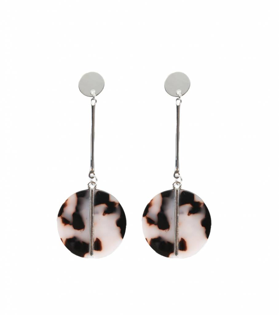FUTURE ROUND MARBLE EARRINGS