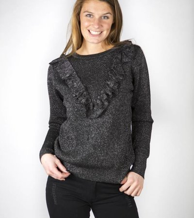 SPARKLE ALL DAY BLACK SWEATER