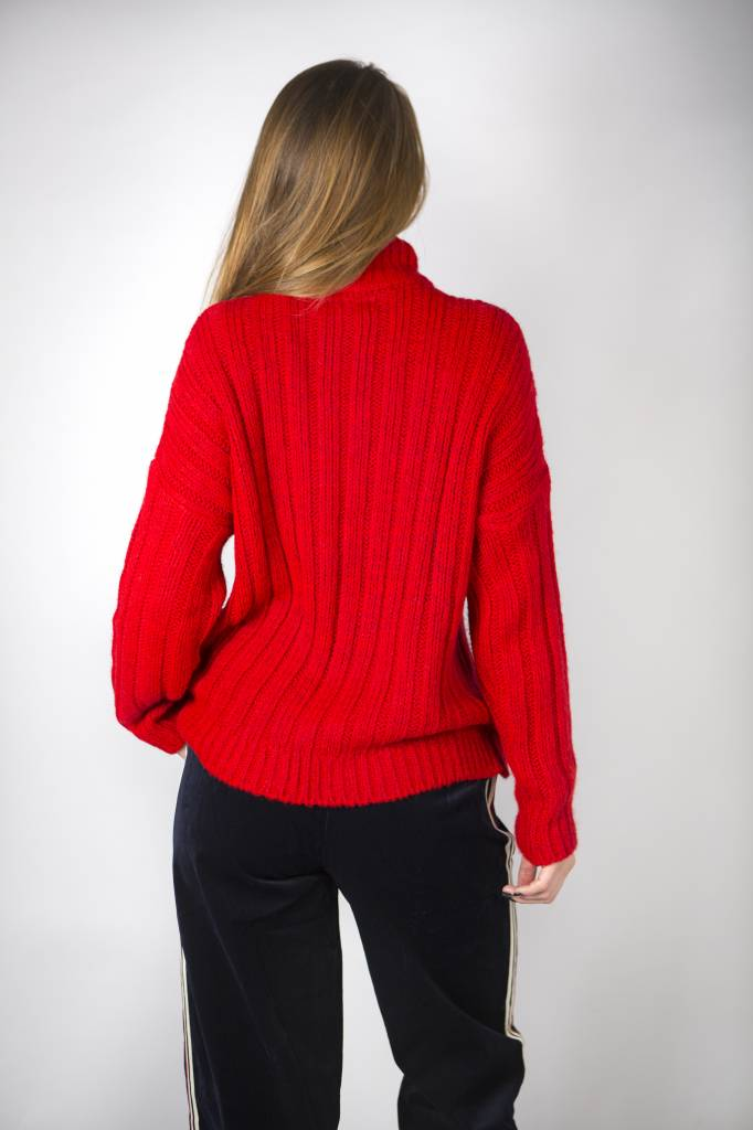 BABY IT'S COLD OUTSIDE ROLLNECK RED
