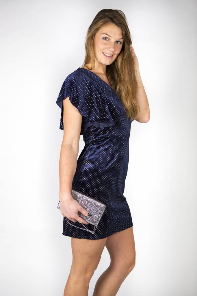 LOOK AT THE STARS BLUE VELVET DRESS