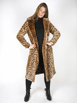 SAFARI FAUX FUR COAT LONG