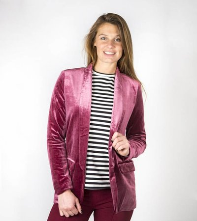 PARTY ON MY MIND PINK BLAZER