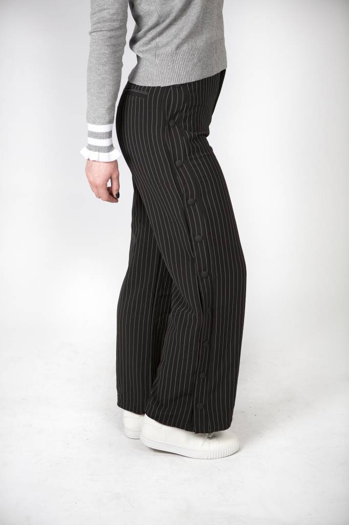 STRIPED BUTTONED TROUSERS
