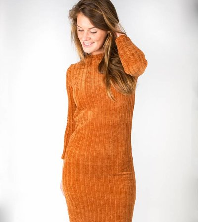SWEET AND SOFT DRESS MARRON