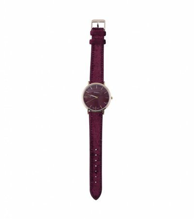VELVET BURGUNDY WATCH